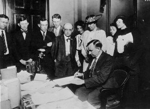 Ceremony ratifying the 19th Amendment in Tennessee